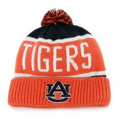 '47 Adults' Auburn University Calgary Knit Cap (Navy, Size One Size) - NCAA Licensed Product, NCAA Men's Caps at Academy Sports