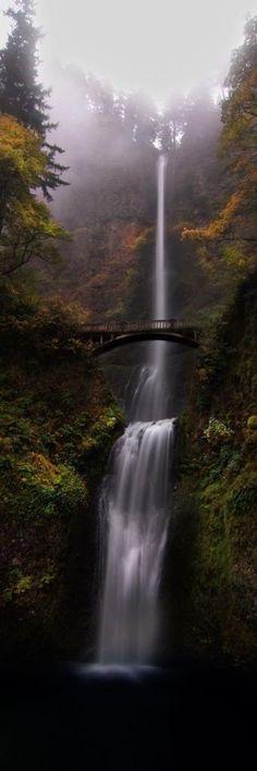 Multnomah Falls – Portland, Oregon…road trip destination while driving up the west coast – San Diego to Seattle