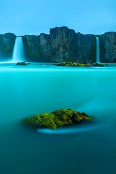Waterfall of the Gods, Iceland // blue water // natural wonders // Europe // mist // paradise // exotic travel destinations // dream vacations // places to go Places Around The World, Oh The Places You'll Go, Places To Travel, Places To Visit, Around The Worlds, Travel Destinations, Dream Vacations, Vacation Spots, Vacation Rentals