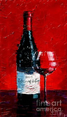 Chateauneuf-du-Pape - ORIGINAL PALETTE KNIFE OIL PAINTING ON CANVAS by Mona EDULESCO / 18 x11 INCHES / 46 x 27 CM / 2014 / SOLD TO AN ART COLLECTOR FROM LYON, FRANCE.
