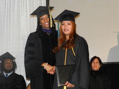 Walking across the stage!