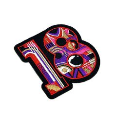 High Quality Flag number 18 custom OEM Embroidery Patches for clothes Custom Embroidered Patches, Custom Patches, Embroidery Patches, Clothing Patches, Number 18, Flag, Oem, Leather, Clothes