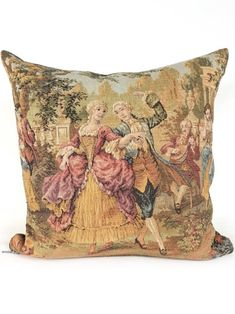 French Tapestry Pillow by My Vintage Pillow Designer Pillow, Pillow Design, Tailoring Techniques, North Vancouver, Vintage Pillows, Handmade Shop, Tapestries, I Fall In Love, Vintage Shops