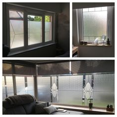 Diy window foil and leadtape, no more peeking neighbours! Glass in lead effect.