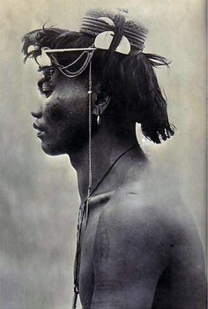 Philippines | A Benguet warrior || Vintage photographic print; ca. 1911