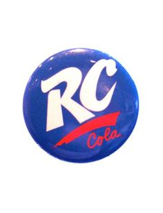 http://www.brokencherry.com #loungefly  #rccola  RC Cola Logo Button   $1.75