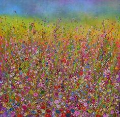 Stunning artwork by talented Yvonne Coomber - Devon England Flower Artists, Digital Art Gallery, Glitter Art, Bohemian Art, Painting Prints, Art Paintings, Painting Art, Naive Art, Beautiful Paintings