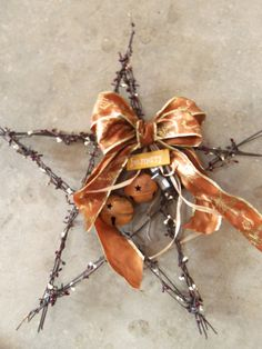 how to make barb wire stars
