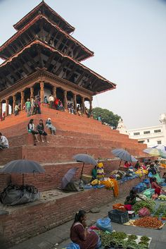 Vegetable sellers at Durbar Square Nepal