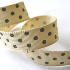 Charcoal Grey Polka Dot Ribbon by Le Trousseau, the perfect gift for Explore more unique gifts in our curated marketplace. How To Make Ribbon, Blue Ribbon, Thank You Gifts, Grosgrain Ribbon, Little Gifts, Charcoal, Unique Gifts, Polka Dots, Wedding Day