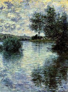 Claude Monet-The Seine at Vétheuil, 1879