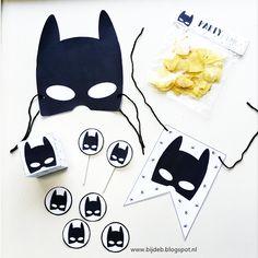 bijdeb: BATMAN thema feest pakket...