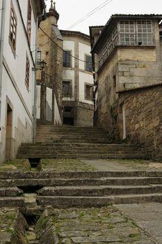 Tui landscape. Pontevedra, Galicia, Spain
