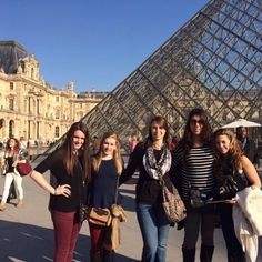 The students visited the Louvre on Monday afternoon. The Louvre is the world's largest palace and museum. #Paris