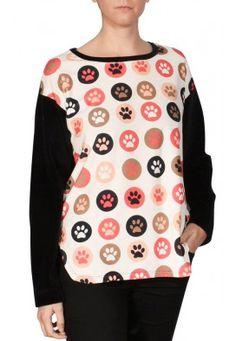 Blusa Plush-Veludo Patinhas. Veja mais em nosso site de compras online: Usenatureza.com