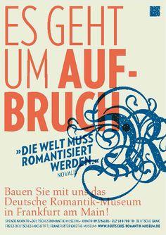 #Plakat #Poster Deutsches Romantik Museum, Frankfurt. Spendenaufruf https://deutsches-romantik-museum.de/