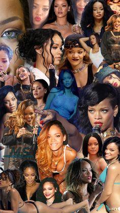 Rihanna's Collage. Enjoy it! :D #RiRi #Rihanna #Wallpaper #Collage