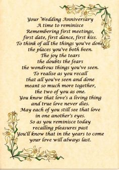 50th wedding anniversary verses - Google Search