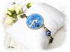 bracelet vintage bleu arbre de vie BR696 €15.00