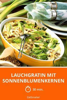 Lauchgratin mit Sonnenblumenkernen - perfektes LowCar-Abendessen!