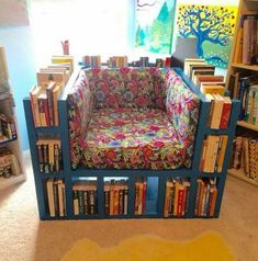 Skip the floral print...great idea for my study!
