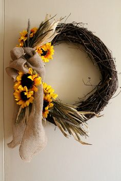 Super Easy DIY Fall Wreath