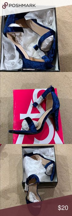 793cdab2ea6 Navy velvet sandals NWT. Poshmark. Ashley Stewart ...