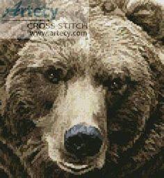 Mini Brown Bear - cross stitch pattern designed by Tereena Clarke. Category: Bears.