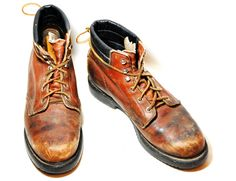 Rugged High Top Red Wing Lace Up Work Boots Mens US by Ramenzombie, $38.00