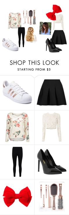 """""""Spring Outfit"""" by justanerdinadumbworld on Polyvore featuring adidas, T By Alexander Wang, A.L.C., Boohoo, Yves Saint Laurent and ASOS"""