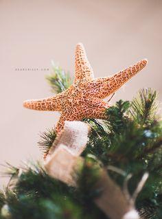 Beachy theme Christmas tree