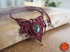Prehnite Macrame Necklace macrame jewelry macrame necklace