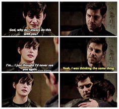 """I just thought I'd never see you again."" ~Trubel ""I was thinking the same thing."" ~ Nick #Grimm #Trubnick"