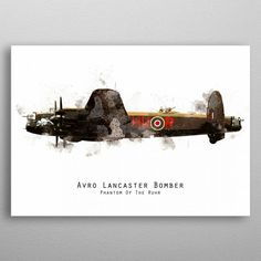 Avro Lancaster Bomber by Airpower Art Lancaster Bomber, Ww2, Planes, Sci Fi, Posters, Metal, Airplanes, Science Fiction, Poster