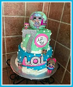 Two-tier LOL SURPRISE DOLLS Birthday Cake!