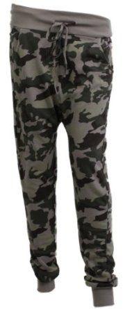Lässige Damenhose / Jogginghose in Camouflage Optik: Amazon.de: Bekleidung