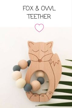 How cute are these guys! Sleepy Fox and Wise Owl are here - the cutest little Teethers around #teethers #babytooth #parenting #babyteeth ##teething