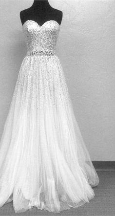 Sparkly wedding gown!