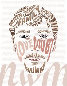 Typographic Self Portrait by ~wilhelmdesign on deviantART