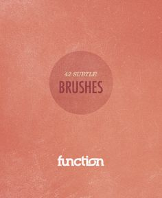 Free #Photoshop brushes to give your work a subtle distressed or letterpressed look.
