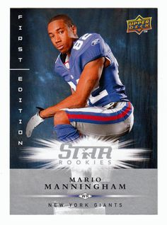 Mario Manningham RC # 177 - 2008 Upper Deck First Edition Football NFL Rookie