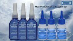 Mechatroniker Mittelfestes  Kleber-Set-Teflon-PTFE-Keramik-Silikon-Öl-Motoröl-Fett-Lebensmittelzertifiziert-H1-NSF-Trennmittel--Klebstoffe -Dichtmittel -Sicherungstechnik -Schmierstoffe -Reinigung -GSK -Chemie Fett, Cleaning Supplies, Shampoo, Soap, Personal Care, Bottle, Adhesive, Chemistry, Foods