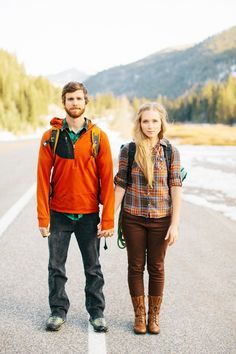 adventure couple. (ciara richardson photography) Pinned on the Adventurist Insights Travel Fashion Board. www.survivalaudiobooks.com