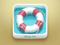 Rescue, help icon design