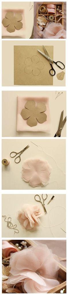 BEN ♥ İYİSİMİ: Tül çiçek yapımı