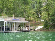 Floating Dock Idea / Taken on Norris Lake / Upper Deck / Path