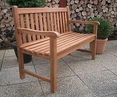 Details Zu Bank Gartenbank 1,2m Holz Garten Sitzbank Teak Massivholz  Wagenrad Western Style