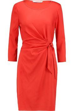 DIANE VON FURSTENBERG GATHERED CREPE DE CHINE MINI DRESS £189 http://www.theoutnet.com/product/758761