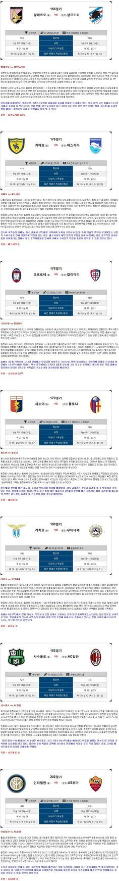 [축구]★토정비결★26일~27일 <세리에 A>