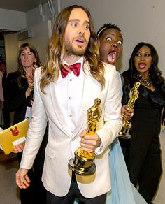 Lupita Nyong'o Got him! The master of photobombs at the 86th Academy Awards got a taste of his own medicine from fellow Oscar winner Lupita Nyong'o backstage of the 2014 Oscars on Mar. 2